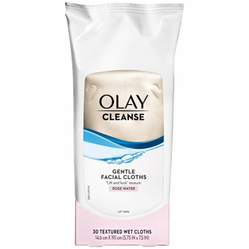 Olay Daily Clean Wet Cleansing Cloths Perspective: front