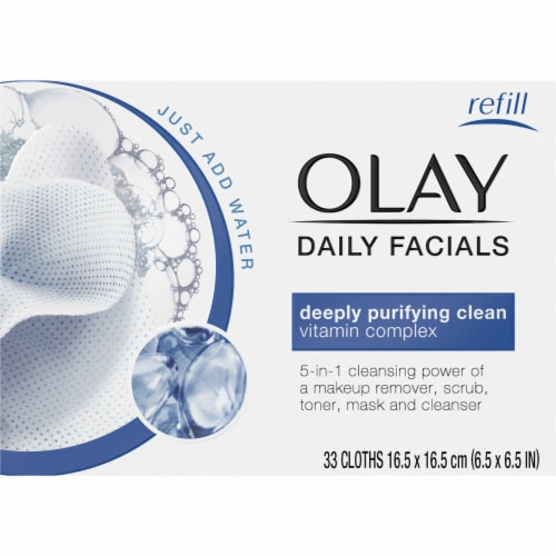 Olay Daily Facials Deeply Purifying Clean Dry Cloths Perspective: front