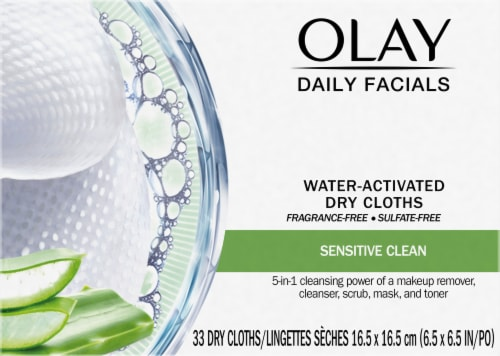 Olay 4-In-1 Gentle Clean Daily Facial Cleansing Cloths Perspective: front