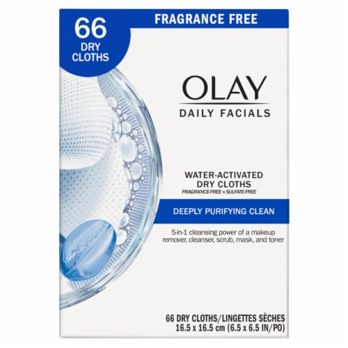 Olay Daily Facials Deeply Purifying Facial Cleansing Cloths 66 Count Perspective: front