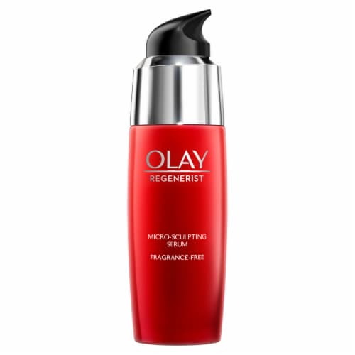 Olay Regenerist Micro-Sculpting Serum Fragrance Free Face Moisturizer Perspective: front