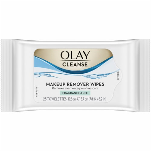 Olay Cleanse Makeup Remover Wipes Fragrance Free Perspective: front