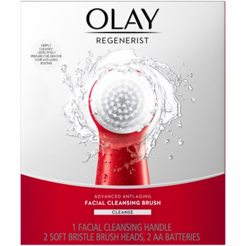 Olay Regenerist Advanced Anti-Aging Facial Cleansing Brush Kit Perspective: front