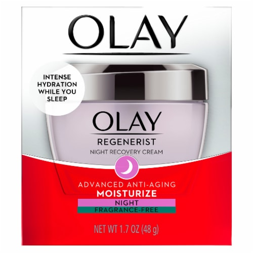 Olay Regenerist Night Recovery Cream Face Moisturizer Perspective: front