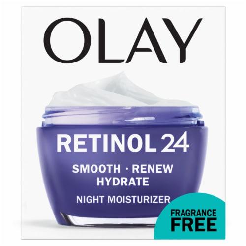 Olay Regenerist Fragrance Free Retinol 24 Night Moisturizer Perspective: front