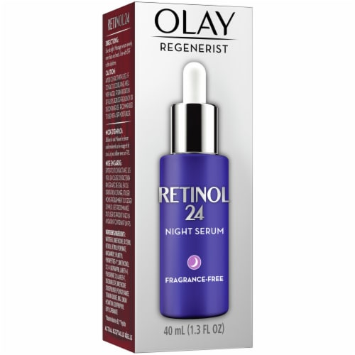 Olay Regenerist Retinol 24 Night Facial Serum Moisturizer Perspective: front