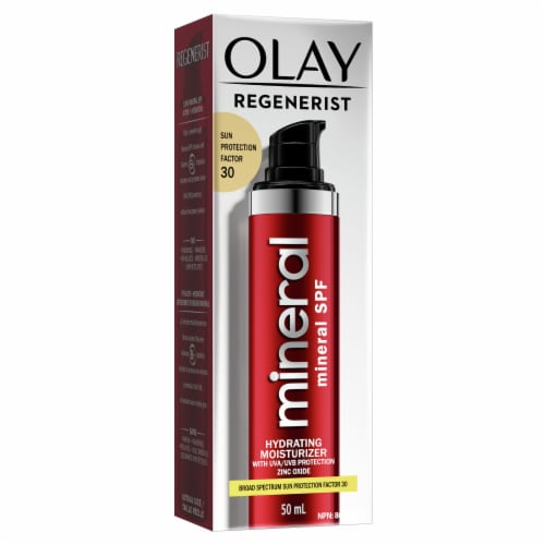 Olay Regenerist Mineral Sunscreen Hydrating Face Moisurizer SPF 30 Perspective: front