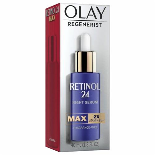 Olay Regenerist Retinol 24 Max Fragrance Free Night Serum Face Moisturizer Perspective: front