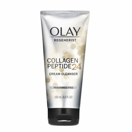 Olay Regenerist Collagen Peptide 24 Serum Facial Cleanser Perspective: front
