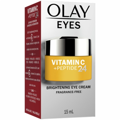 Olay Vitamin C + Peptide 24 Fragrance-Free Brightening Eye Cream Perspective: front