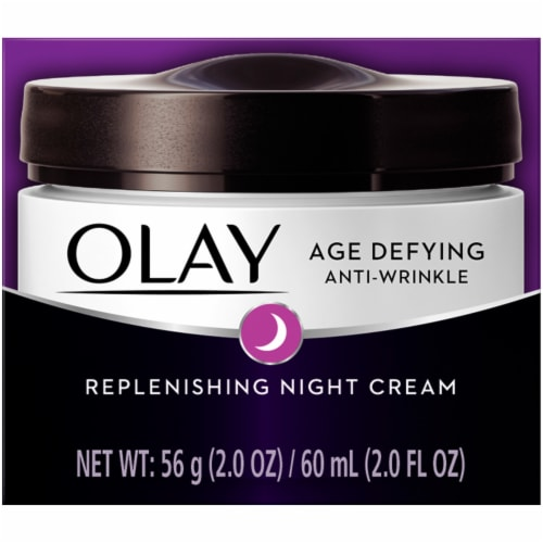 Olay Age Defying Anti-Wrinkle Night Face Cream Perspective: front