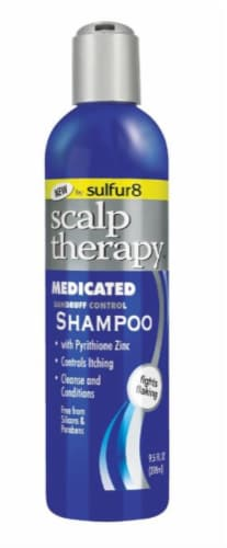 Sulfur 8 Scalp Therapy Medicated Dandruff Control Shampoo Perspective: front
