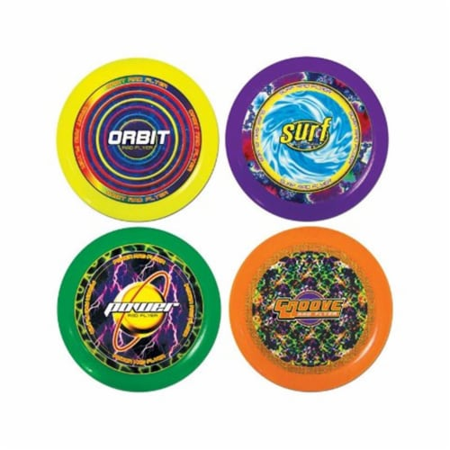 Ja-Ru 1033 Assorted Plastic Frisbee Flying Disc - pack of 24 Perspective: front