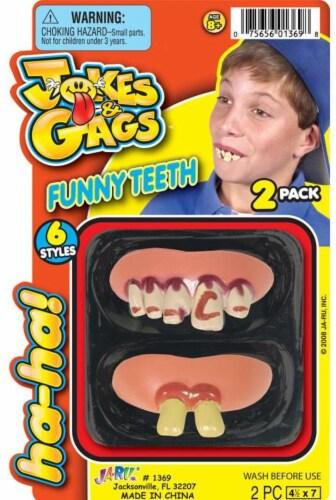 JA-RU Funny Teeth Perspective: front