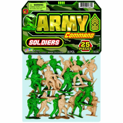 JA-RU Army Soldiers Play Set Perspective: front