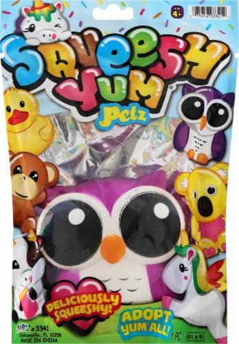 JA-RU Squeesh Yum Petz Toy Perspective: front