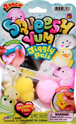 JA-RU Squeesh Yum Jiggly Pals Perspective: front