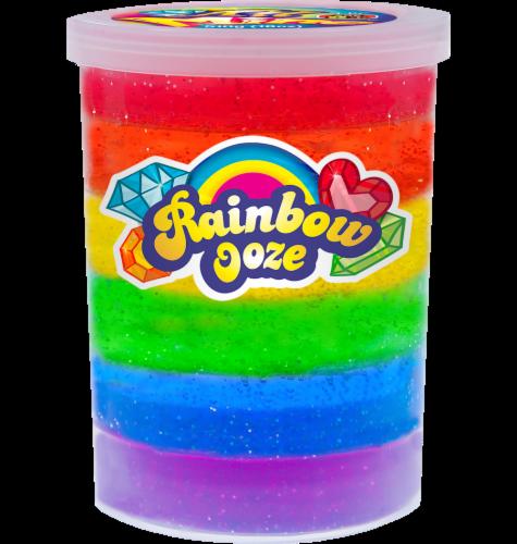 JA-RU Rainbow Ooze Glitter Putty Toy Perspective: front