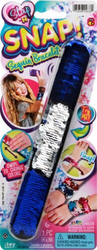 Ja-Ru Slap N Snap Sequin Bracelet Perspective: front