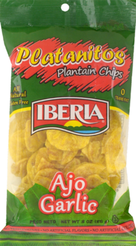 Iberia Garlic Plantain Chips Perspective: front