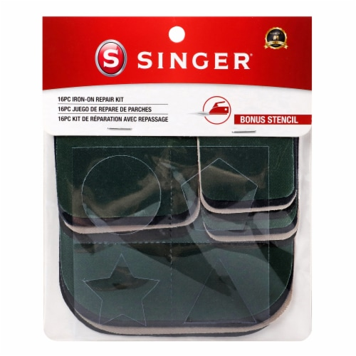 SINGER Iron-On Repair Patch Kit - Assorted Colors Perspective: front