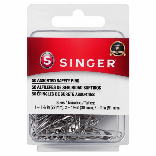 SINGER Steel Safety Pins - Silver Perspective: front