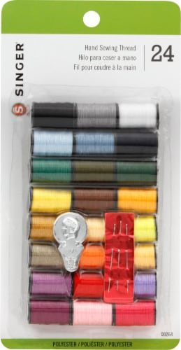 SINGER Polyester Hand Sewing Thread Spools Perspective: front