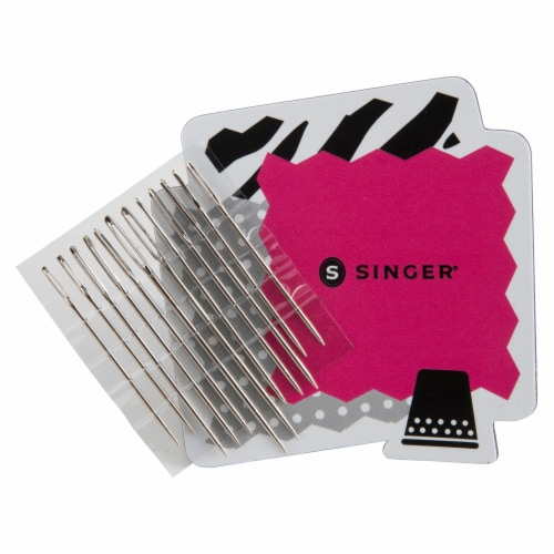 SINGER Large-Eye Needles with Storage Perspective: front