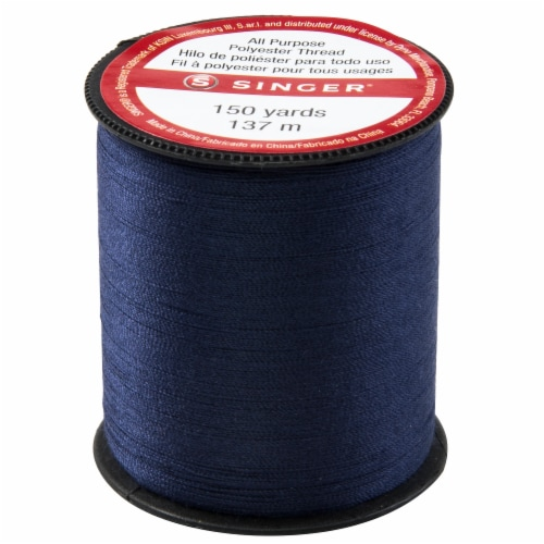 SINGER All-Purpose Polyester Thread - Blue Perspective: front