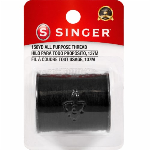 SINGER All Purpose Polyester Thread - Black Perspective: front