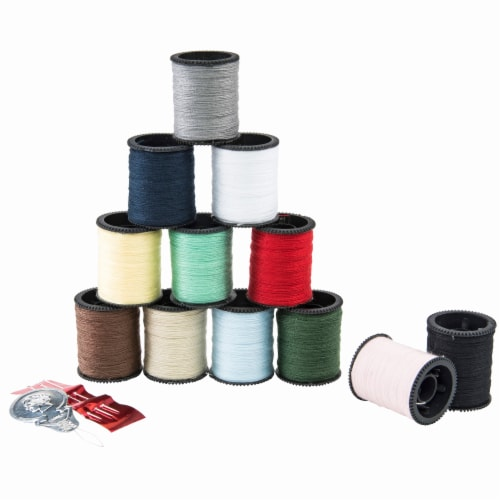 SINGER Assorted Polyester Hand Sewing Thread Spools Perspective: front