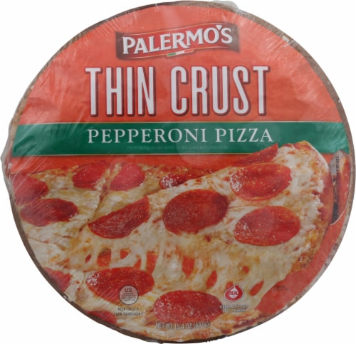 Palermo's Thin Crust Pepperoni Pizza Perspective: front