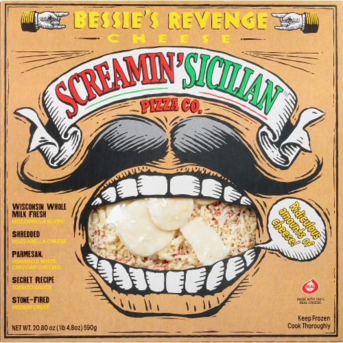 Screamin' Sicilian Bessie's Revenge Cheese Pizza Perspective: front