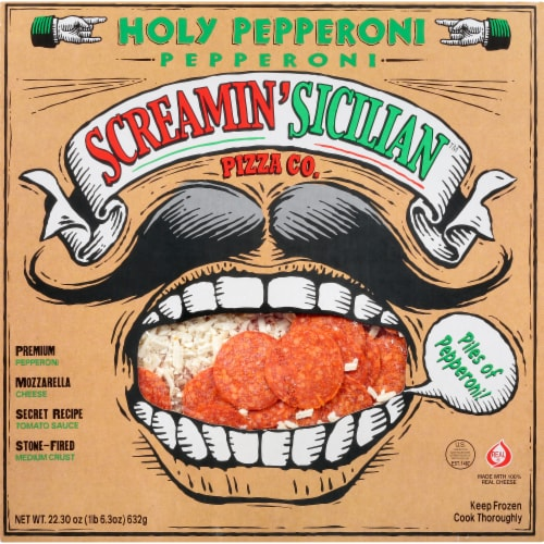 Screamin' Sicilian Holy Pepperoni Pizza Perspective: front