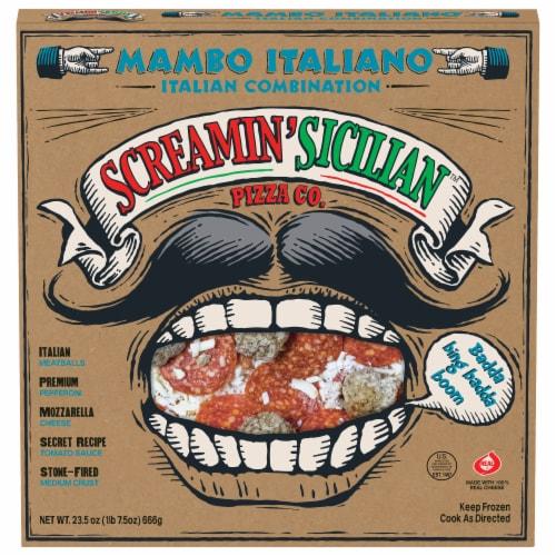 Screamin' Sicilian Mambo Italiano Combination Pizza Perspective: front