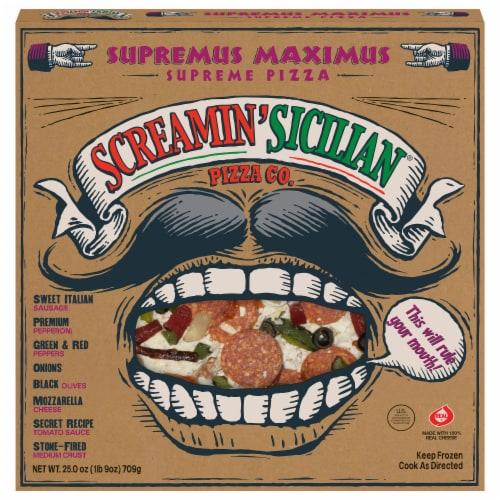 Screamin' Sicilian Supremus Maximus Supreme Pizza Perspective: front