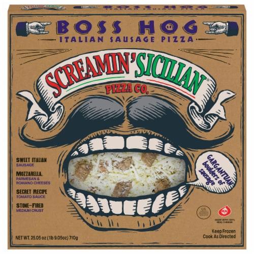 Screamin' Sicilian Boss Hog Italian Sausage Pizza Perspective: front