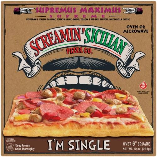 Screamin' Sicilian Supreme Maximus Single Serve Pizza Perspective: front