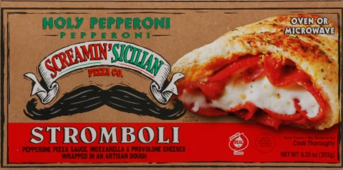 Screamin' Sicilian Holy Pepperoni Stromboli Perspective: front