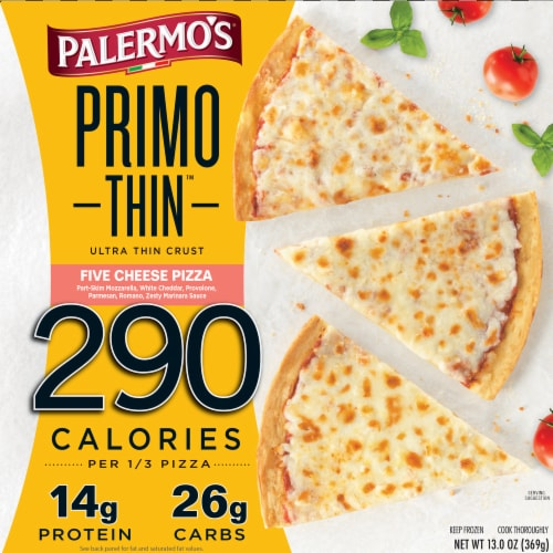 Palermo's Primo Thin Cheese Lovers Pizza Perspective: front