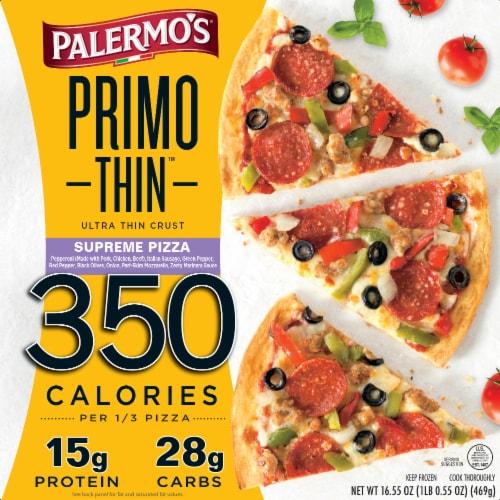 Palermo's Primo Thin Supreme Ultra-Thin Crust Pizza Perspective: front