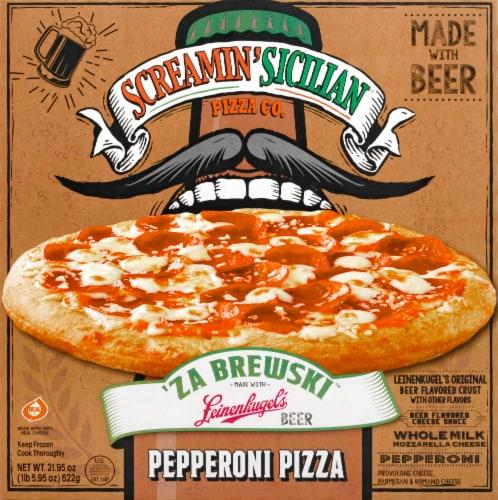 Screamin' Sicilian 'Za Brewski Pepperoni Frozen Pizza Perspective: front