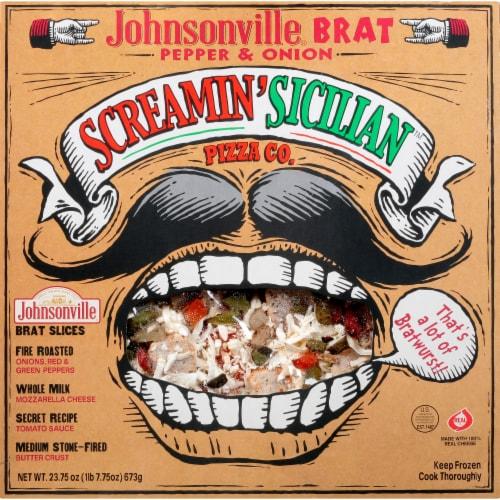 Screamin' Sicilian Johnsonville Brat Pepper & Onion Frozen Pizza Perspective: front