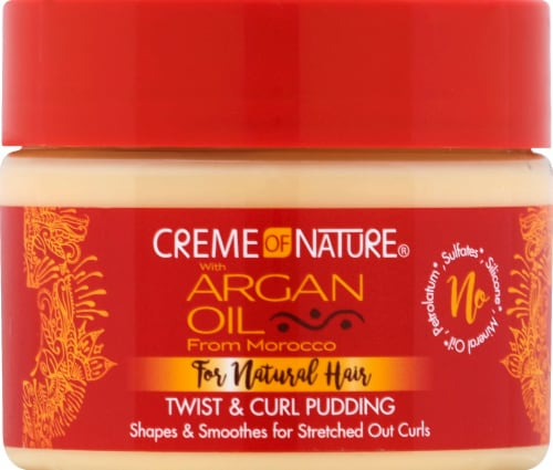 Creme of Nature Argan Oil For Natural Hair Twist & Curl Pudding Perspective: front