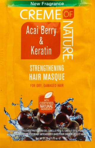 Creme of Nature Acai Berry & Keratin Strengthening Hair Masque Perspective: front
