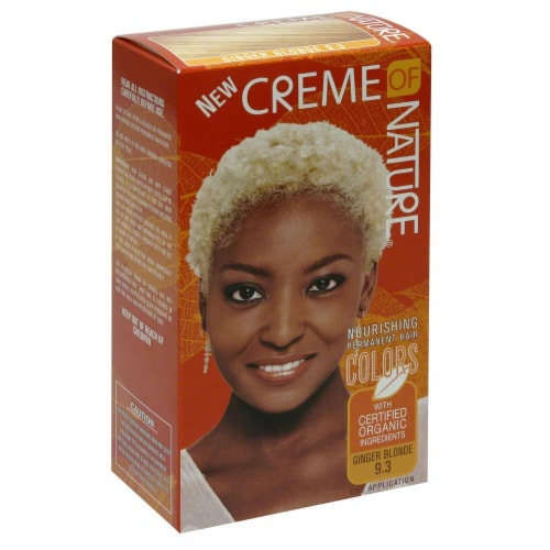 Creme of Nature Ginger Blonde 9.3 Hair Color Perspective: front