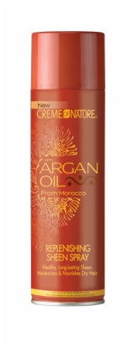 Creme of Nature Argan Oil Replenishing Sheen Spray Perspective: front
