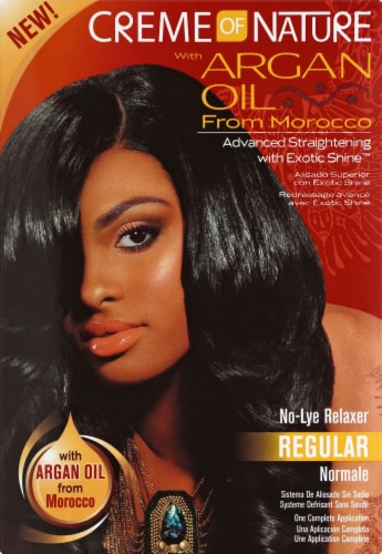 Creme of Nature Argan Oil Regular Relaxer Kit Perspective: front