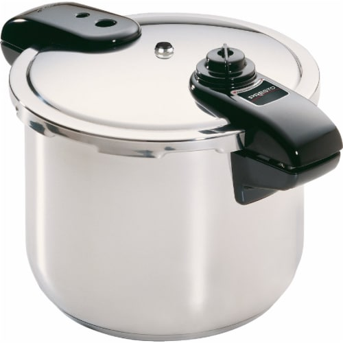 Presto 01370 8 Qt Stainless Steel Cooker Perspective: front