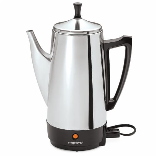Presto® 12 Cup Stainless Steel Coffee Maker Perspective: front